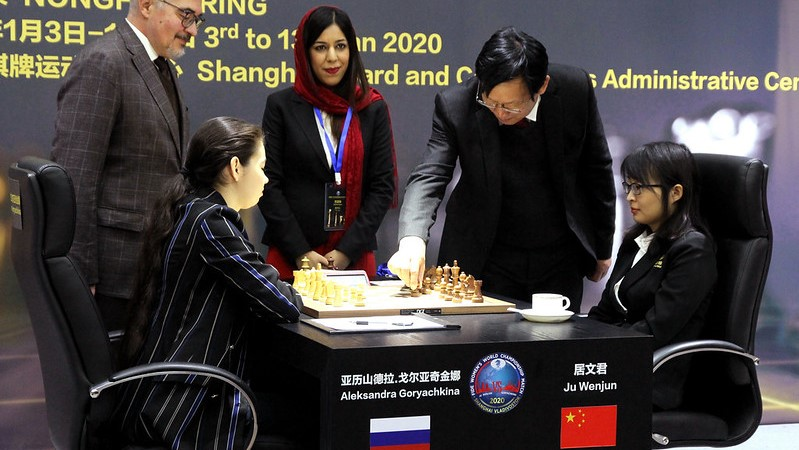 Championnat du Monde d'échecs féminin 2020 partie 1