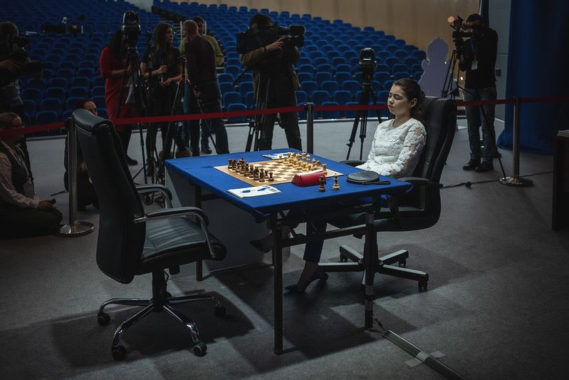 Championnat du Monde d'échecs féminin 2020 partie 10 Goryachnika