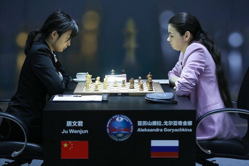 Championnat du Monde d'échecs féminin 2020 partie 4
