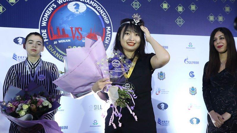 Ju Wenjun Championne du Monde d'échecs 2020
