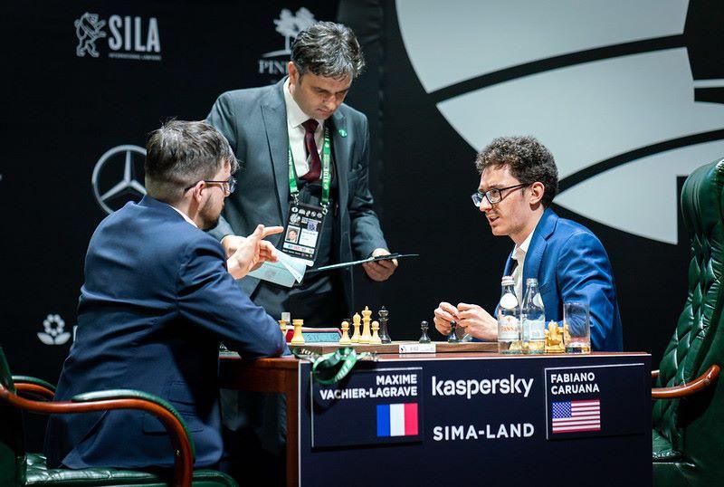 Tournoi des Candidats 2020 ronde 1 Vachier-Lagrave - Caruana