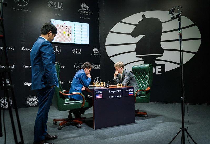Tournoi des Candidats 2020 ronde 2 Caruana-Alekseenko