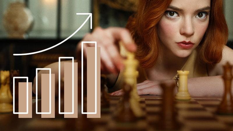 Série Le jeu de la dame : l'audience des échecs explose