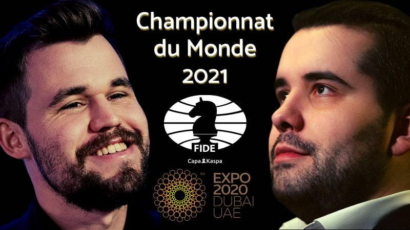 Championnat du Monde d'échecs 2021 Carlsen-Nepomniachtchi