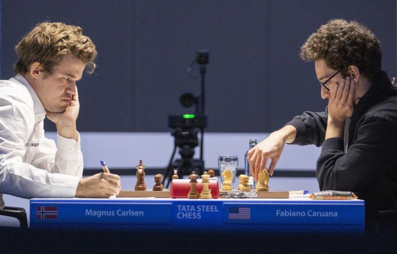 Tata Steel Chess Ronde 10 Caruana-Carlsen