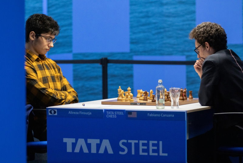Tata Steel Chess 2021 Ronde 11 Firoujza-Caruana