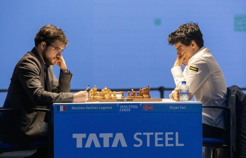 Tata Steel Chess 2021 Ronde 6 Maxime Vachier-Lagrave - Aryan Tari