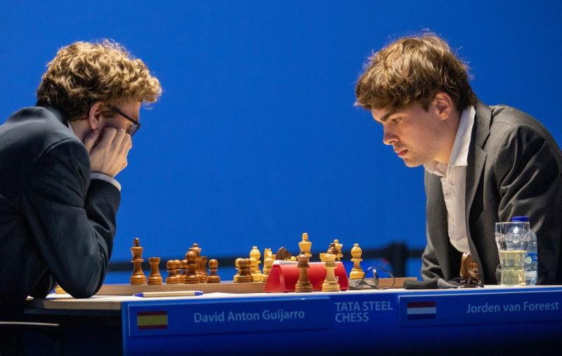 Tata Steel Chess 2021 Ronde 6 Jordan Van Foreest - David Anton Guijarro
