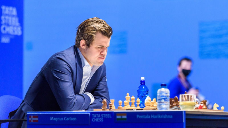 Tata Steel Chess 2021 Ronde 7 Magnus Carlsen